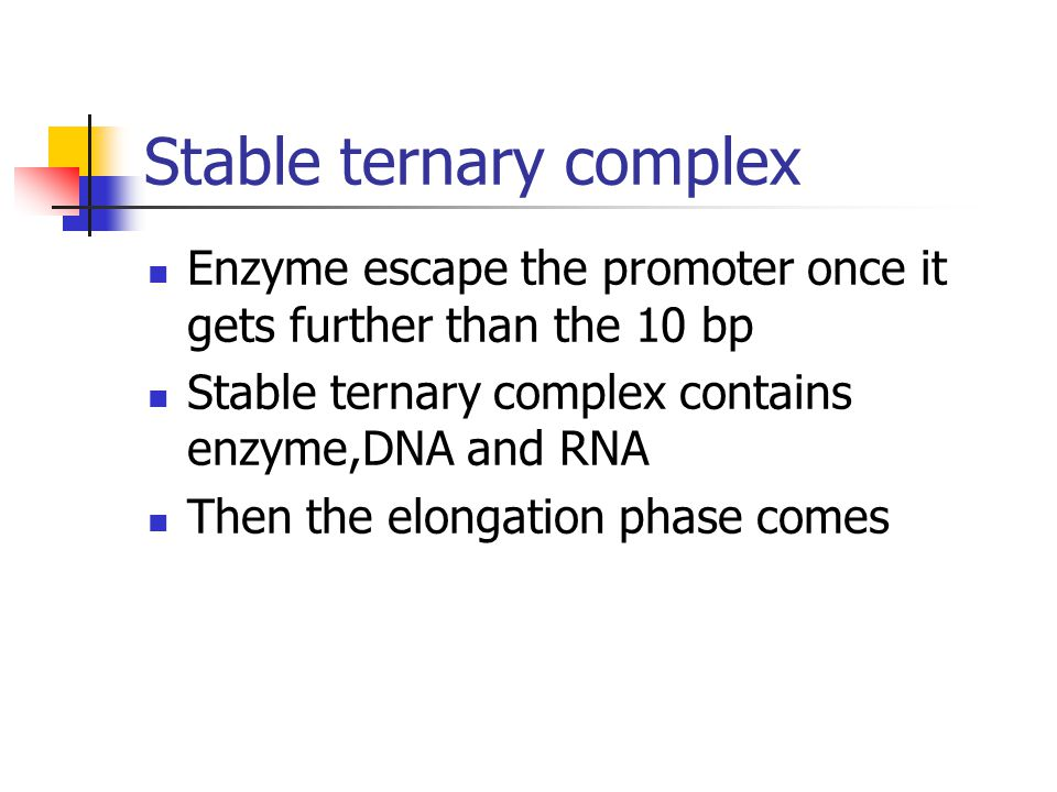 Stable ternary complex