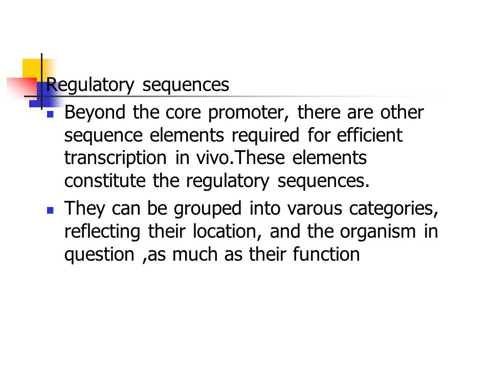 Regulatory sequences