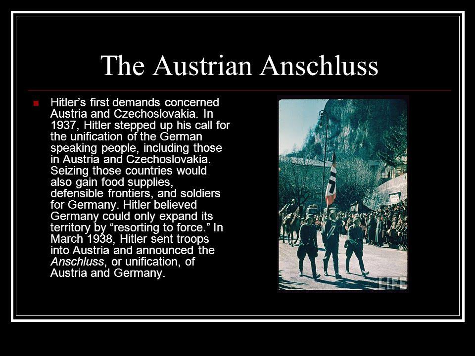 The Austrian Anschluss