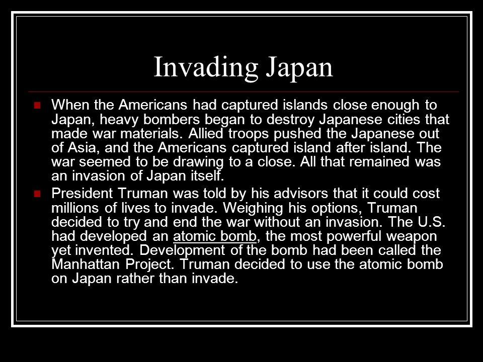 Invading Japan