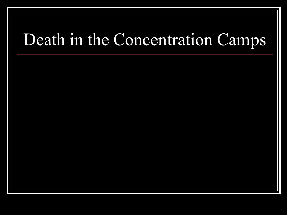 Death in the Concentration Camps