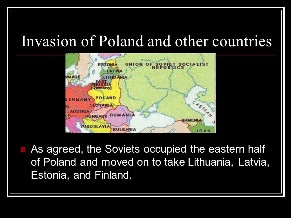 Invasion of Poland and other countries