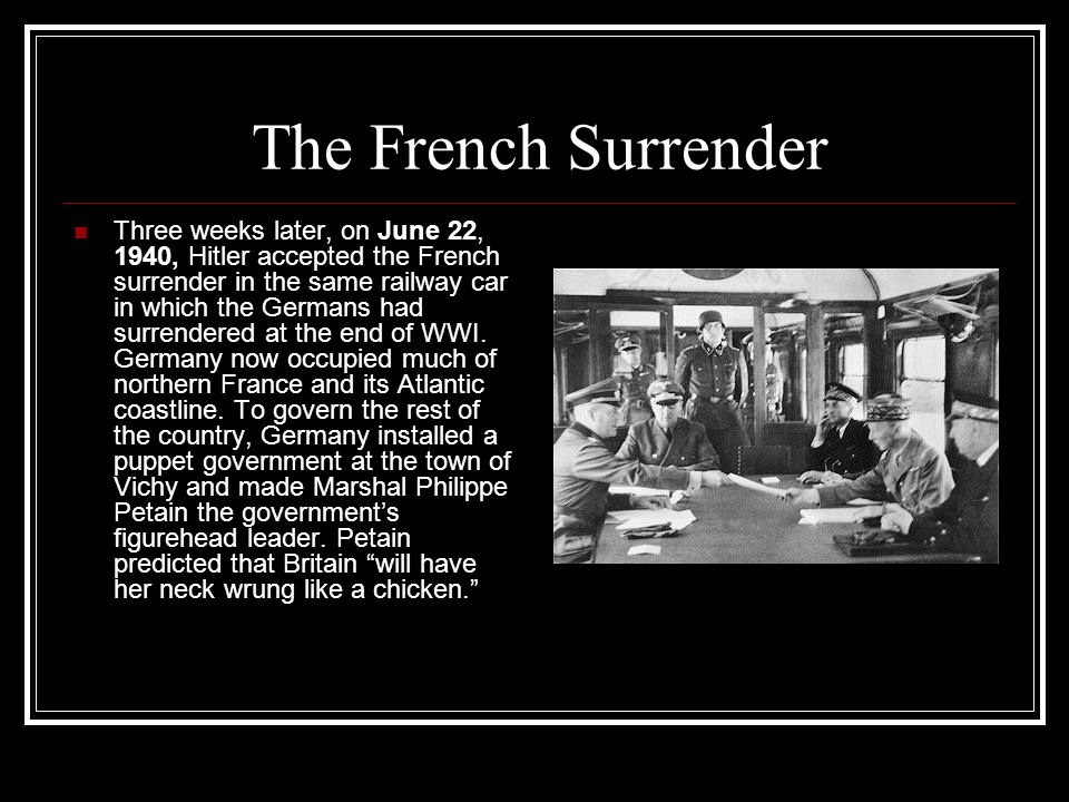 The French Surrender