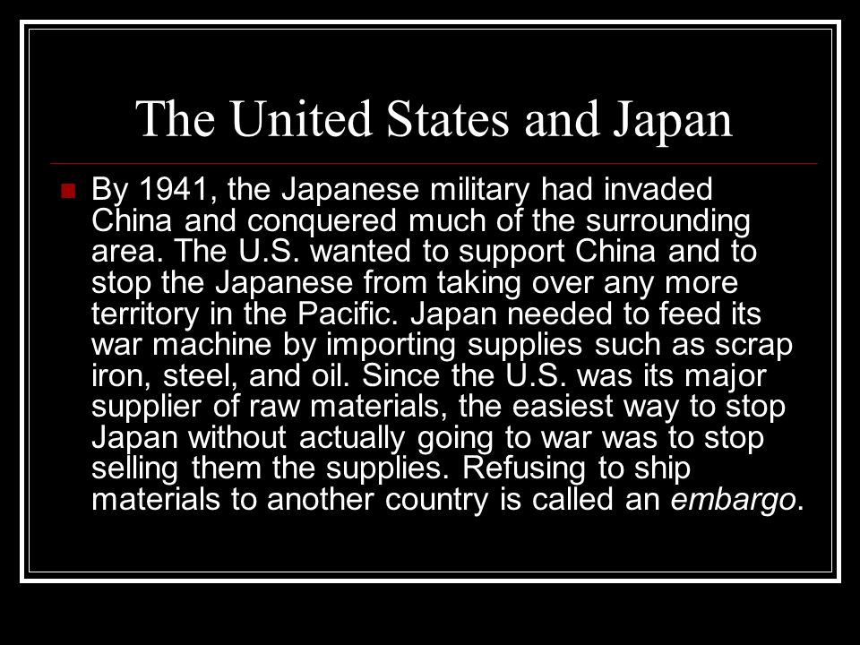 The United States and Japan