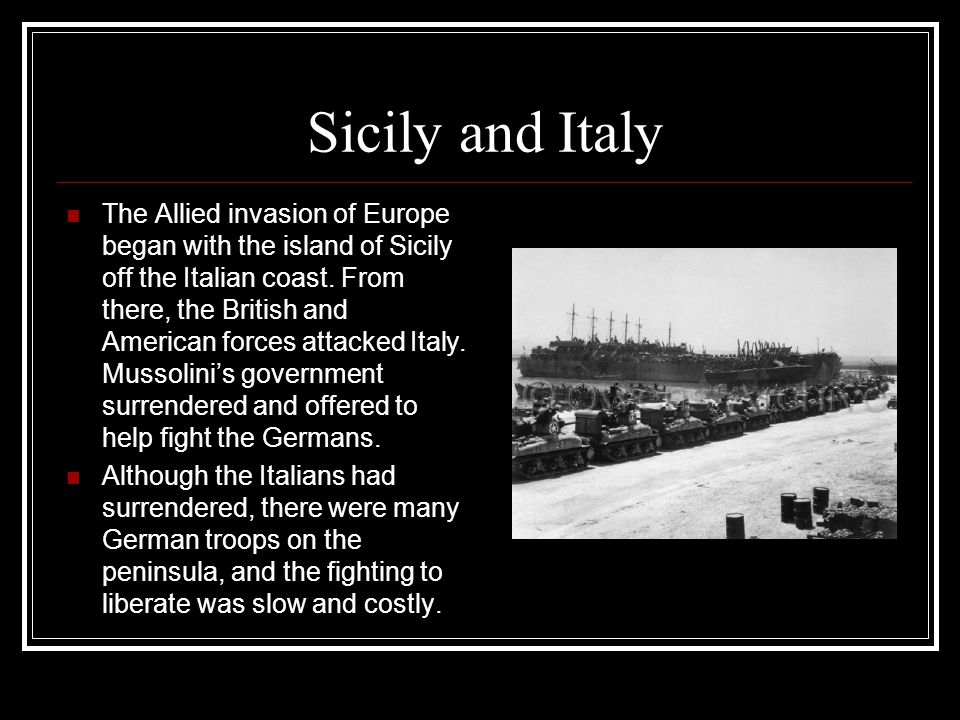 Sicily and Italy