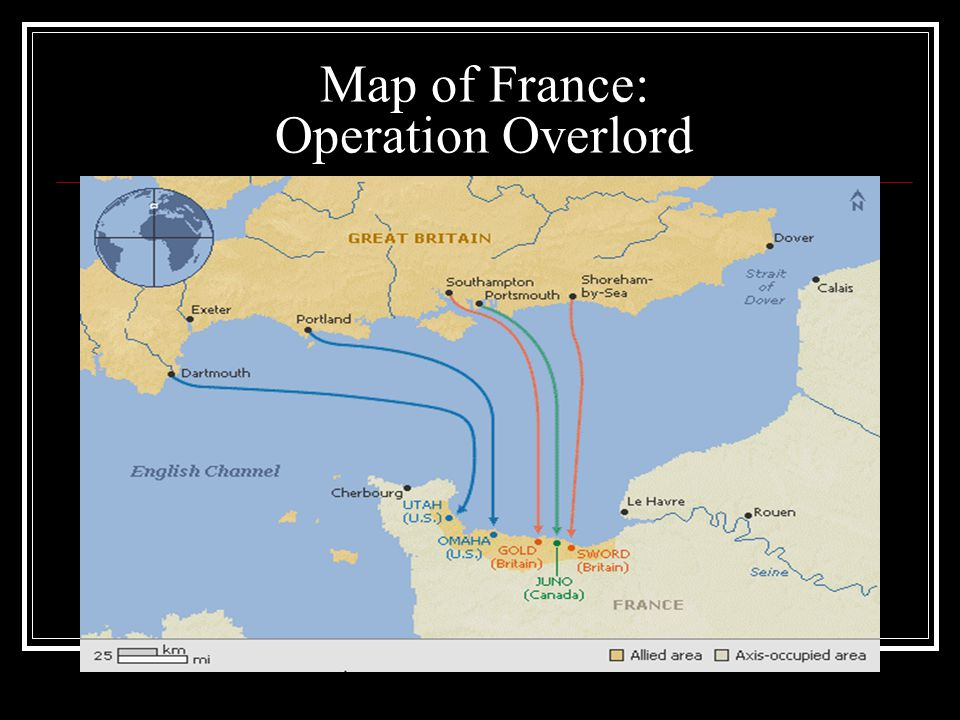 Map of France: Operation Overlord