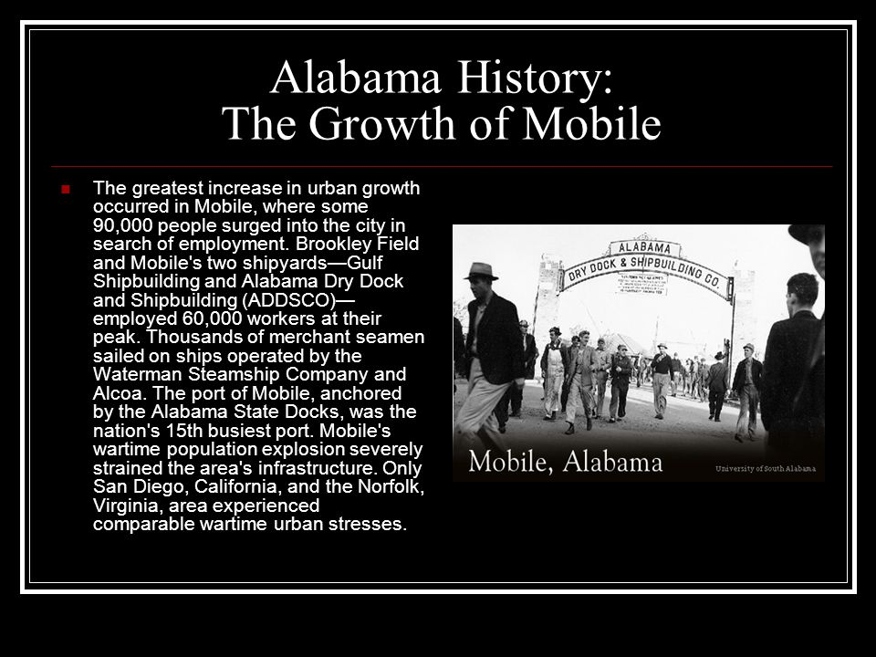 Alabama History: The Growth of Mobile