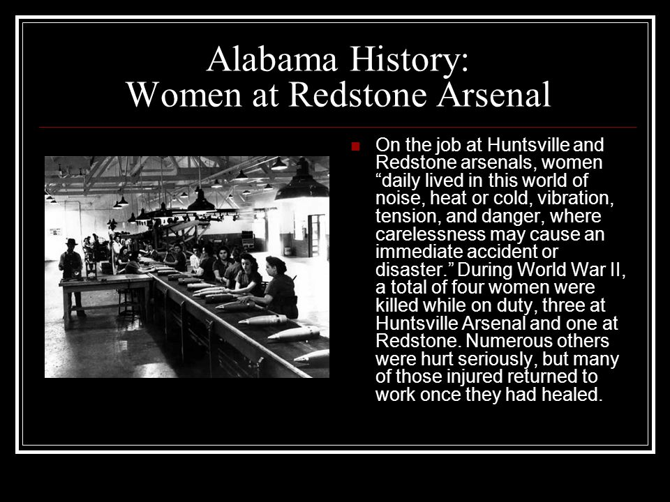 Alabama History: Women at Redstone Arsenal