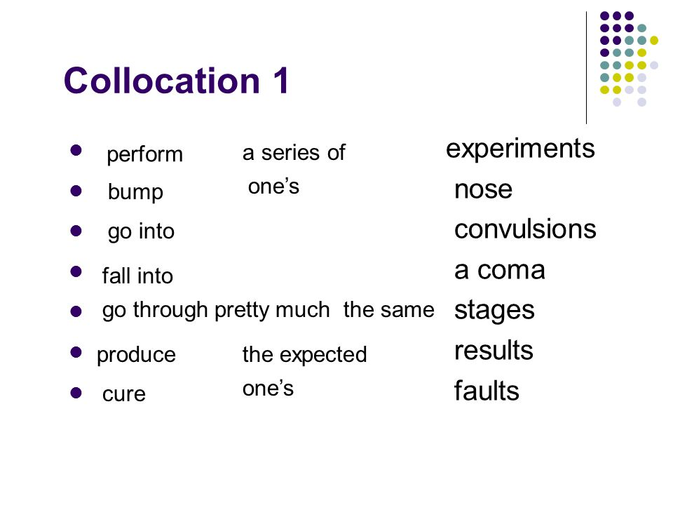 Collocation 1 experiments nose convulsions a coma stages results