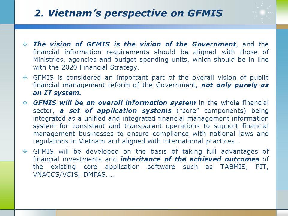 2. Vietnam's perspective on GFMIS