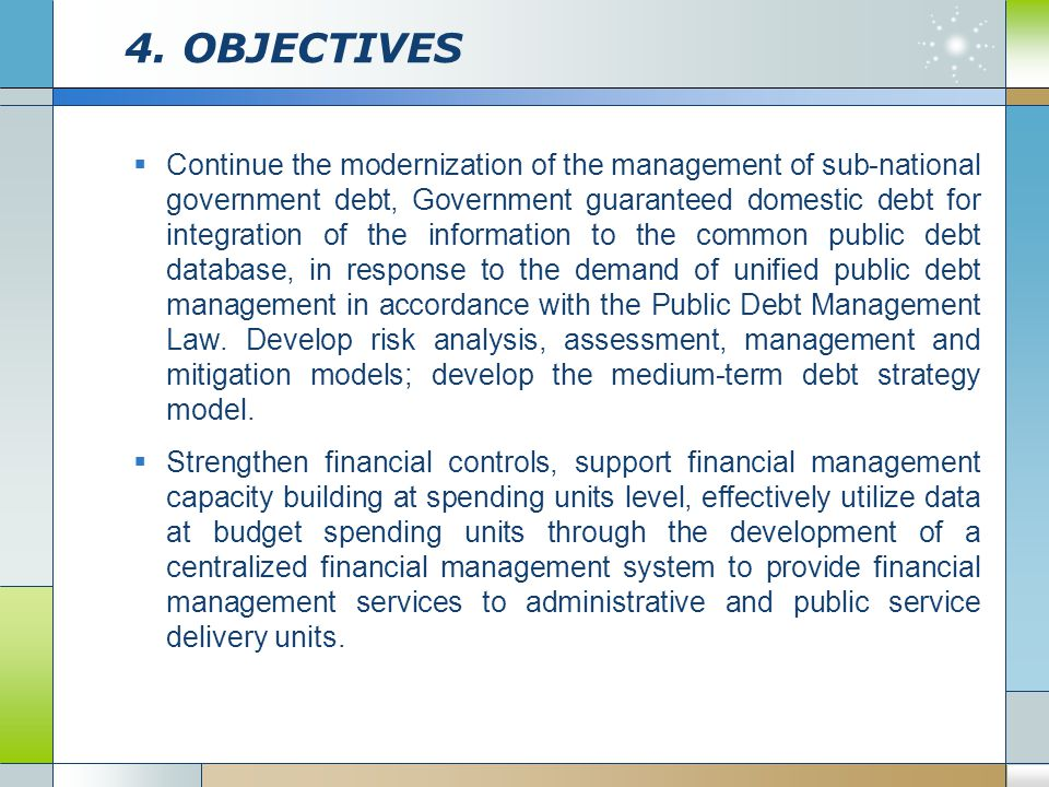 4. OBJECTIVES
