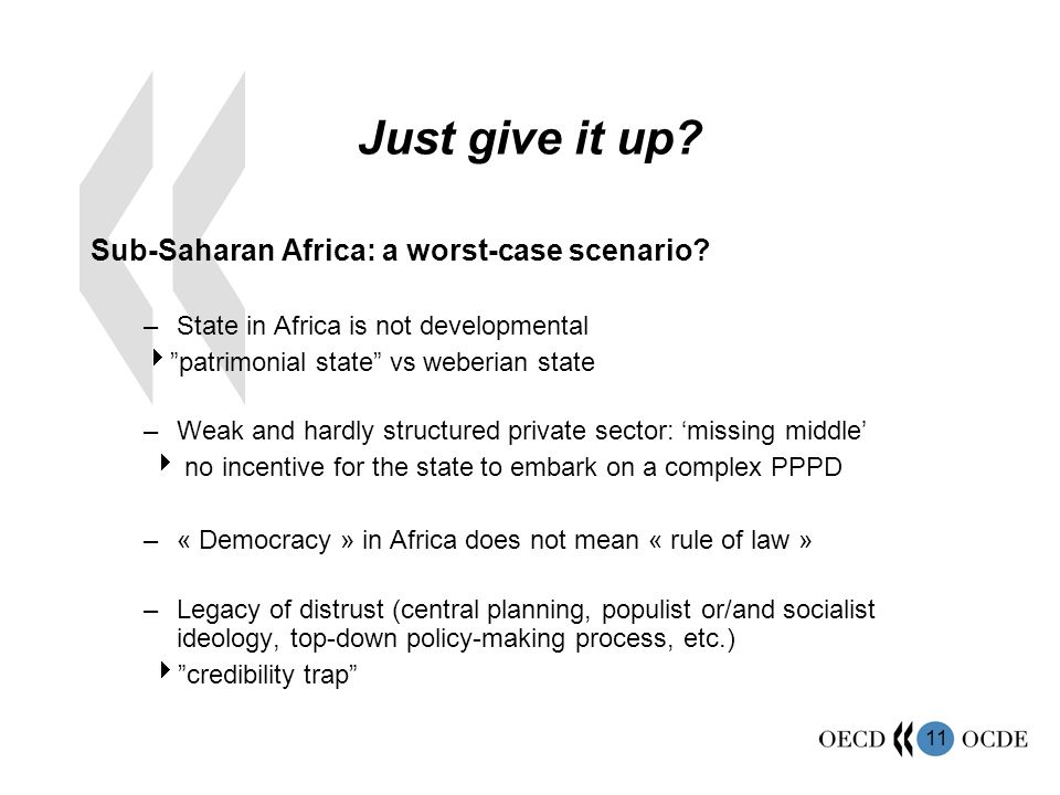 Just give it up Sub-Saharan Africa: a worst-case scenario
