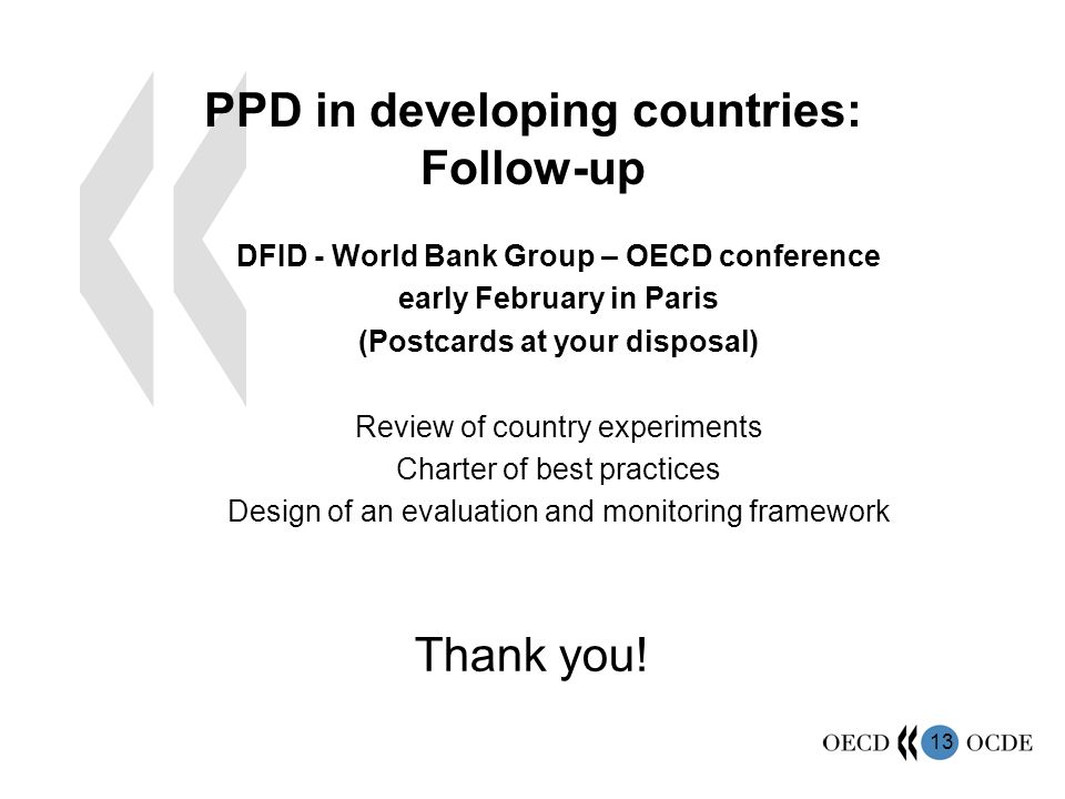 PPD in developing countries: Follow-up