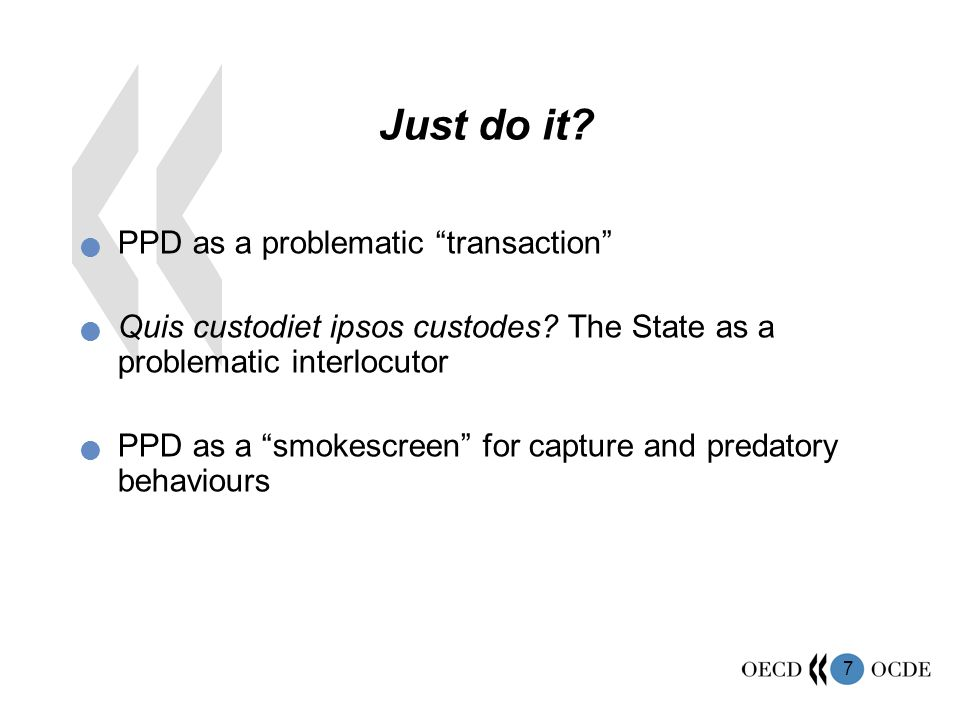 Just do it PPD as a problematic transaction