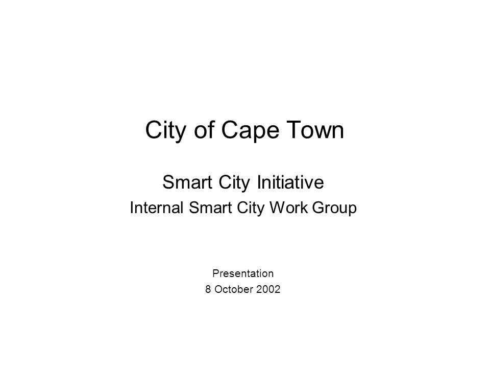 Internal Smart City Work Group