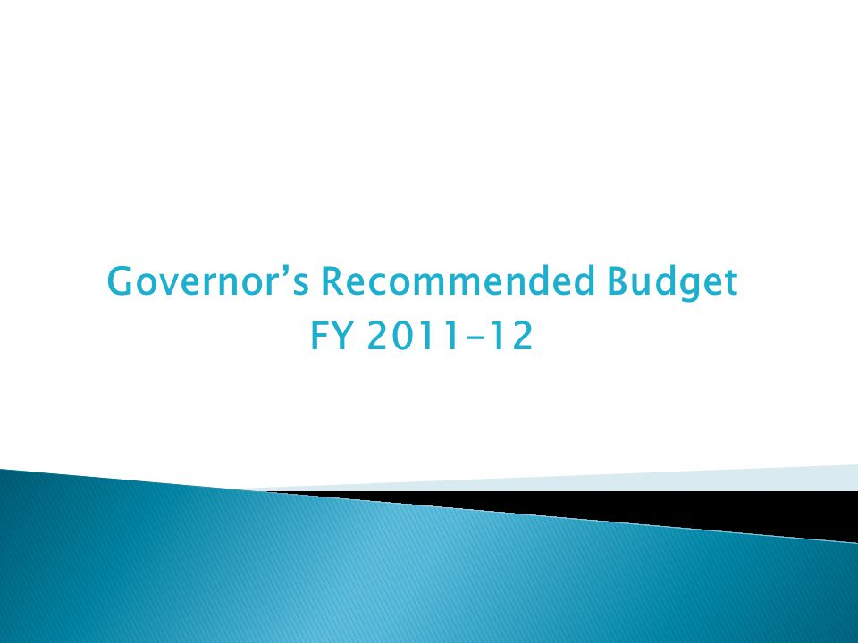 Governor's Recommended Budget