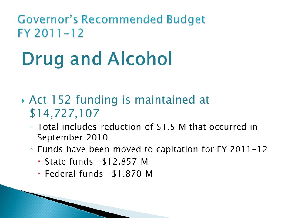 Governor's Recommended Budget FY 2011-12
