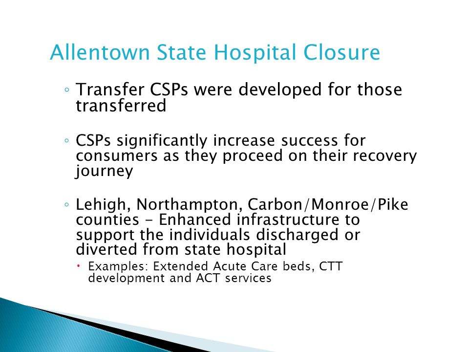 Allentown State Hospital Closure