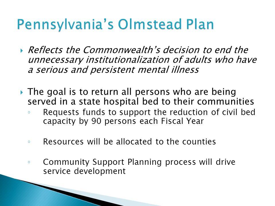 Pennsylvania's Olmstead Plan