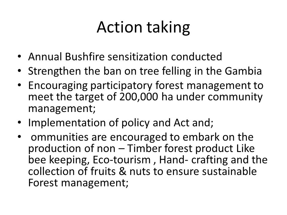 Action taking Annual Bushfire sensitization conducted