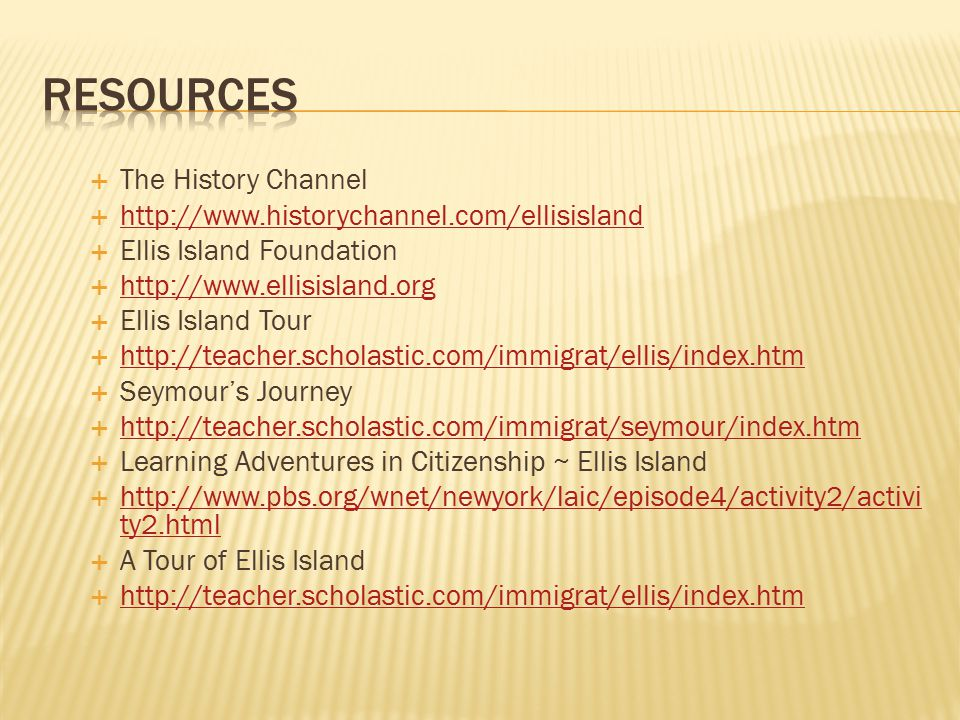 Resources The History Channel