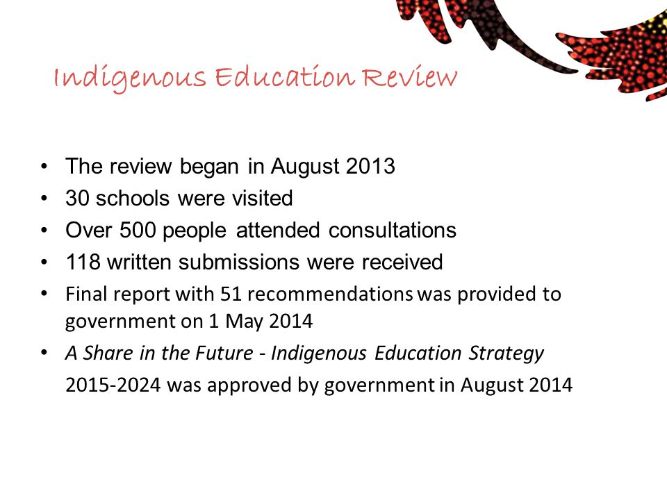 Indigenous Education Review