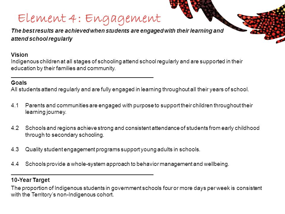 Element 4: Engagement