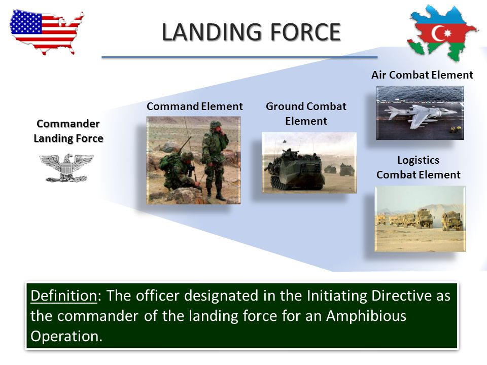 LANDING FORCE Air Combat Element. Command Element. Ground Combat Element.