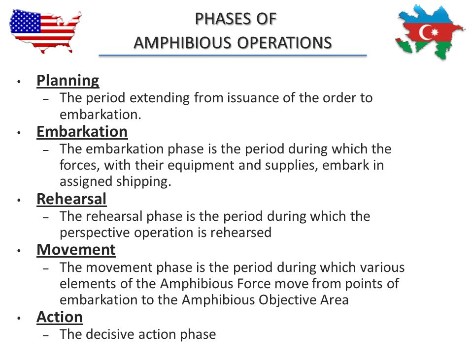 PHASES OF AMPHIBIOUS OPERATIONS