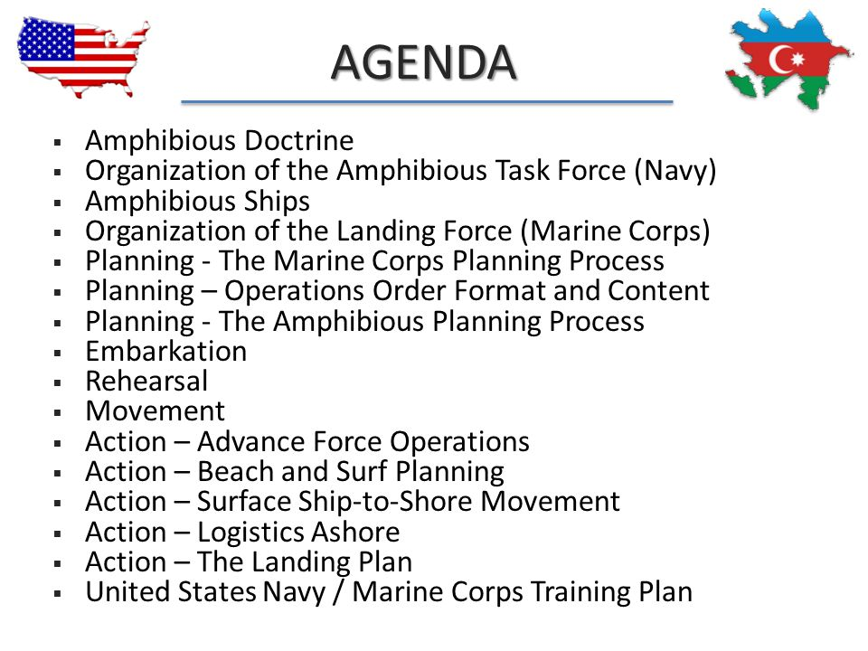 Agenda Amphibious Doctrine