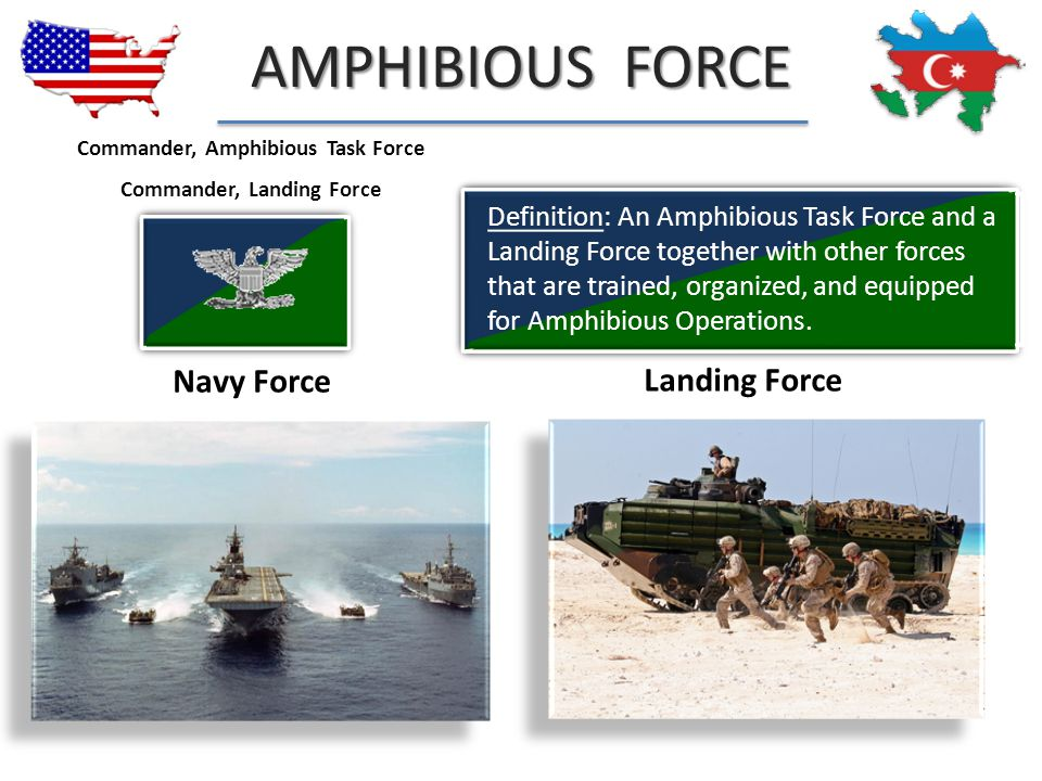 Commander, Amphibious Task Force Commander, Landing Force