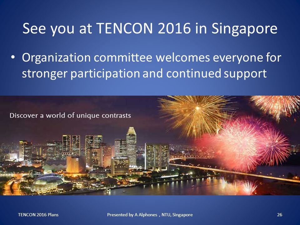 See you at TENCON 2016 in Singapore