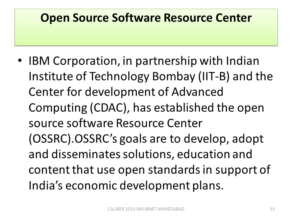 Open Source Software Resource Center