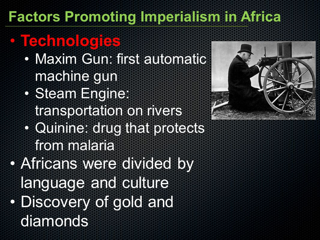 Africans were divided by language and culture