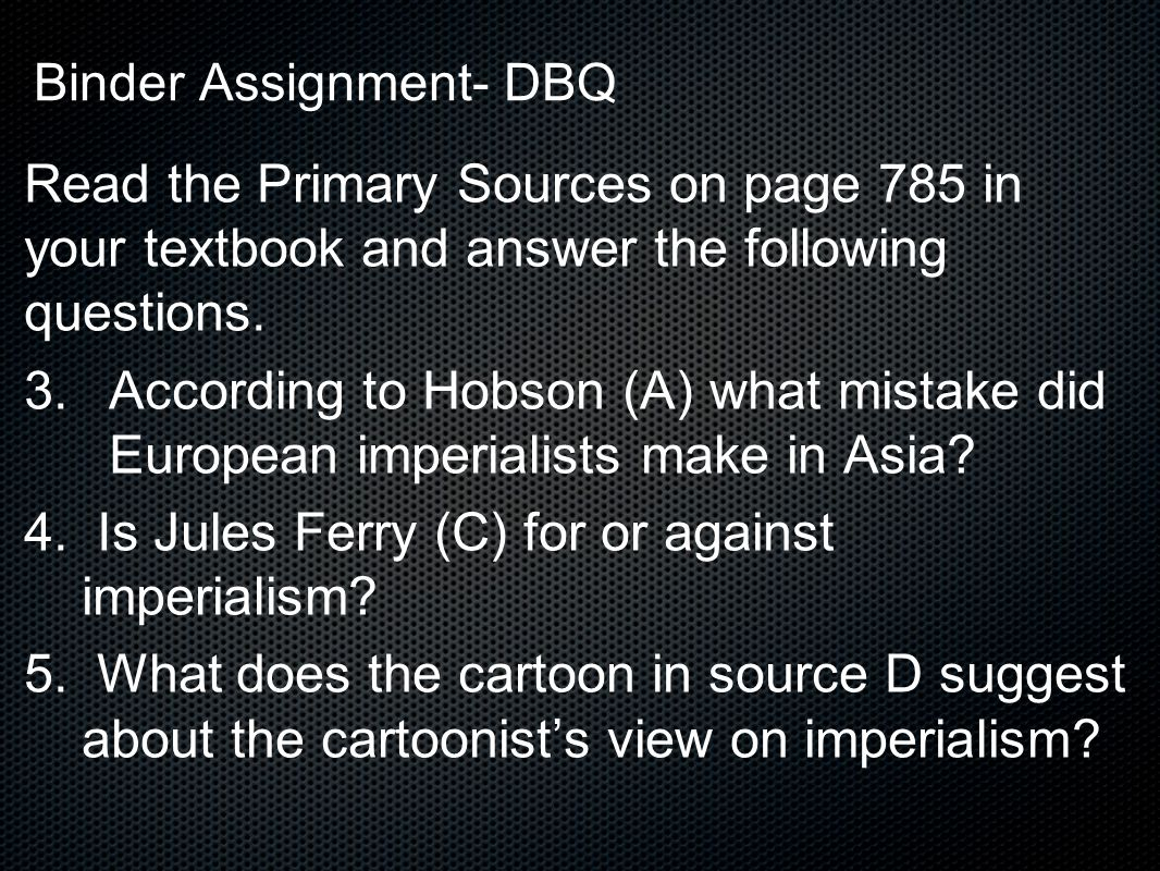 Binder Assignment- DBQ