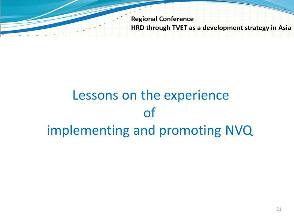implementing and promoting NVQ