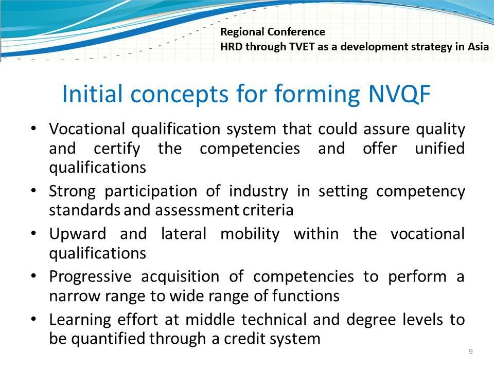Initial concepts for forming NVQF