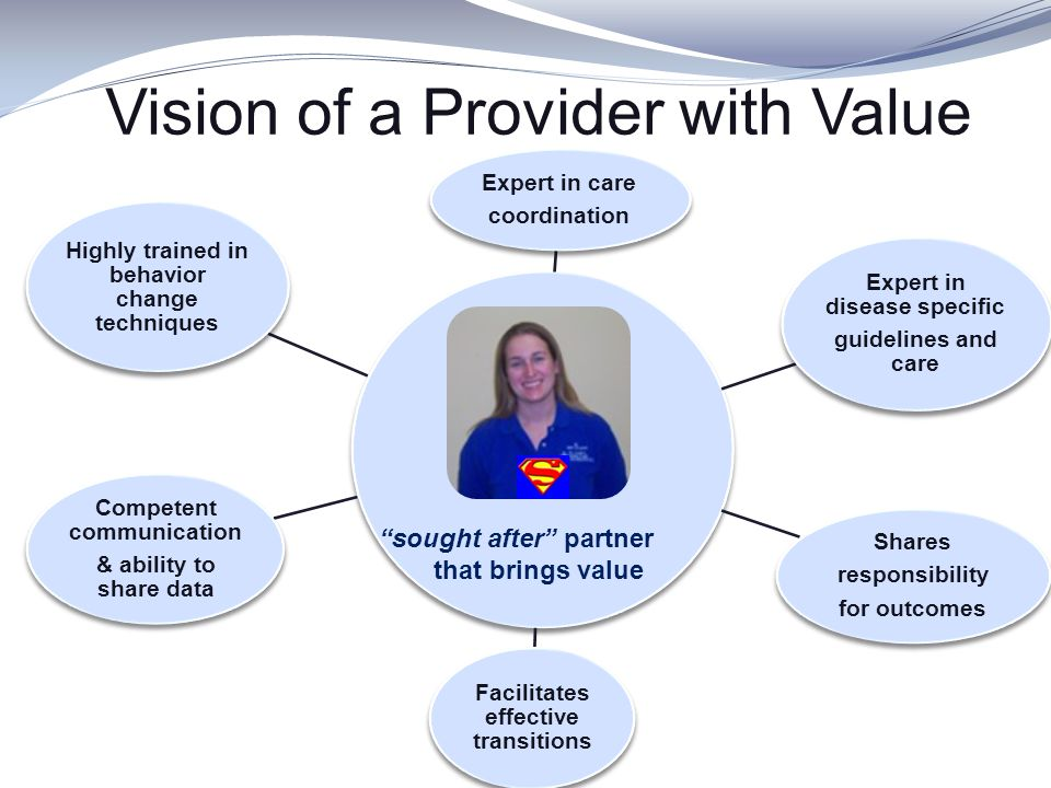 Vision of a Provider with Value