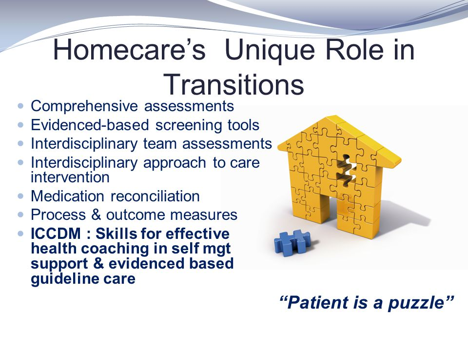 Homecare's Unique Role in Transitions