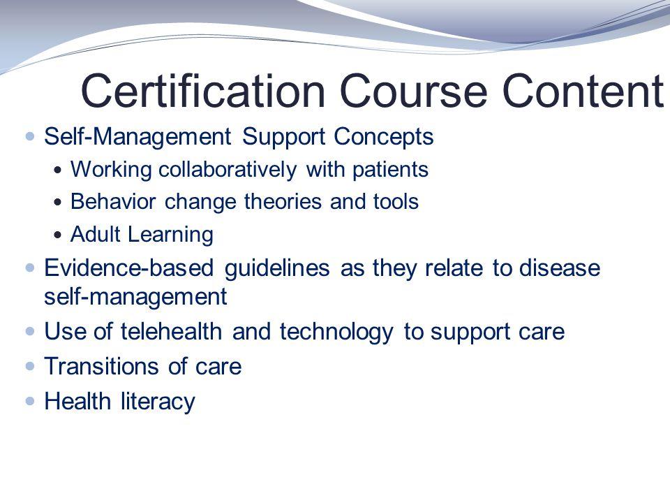 Certification Course Content