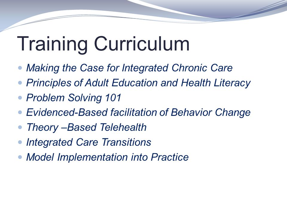 Training Curriculum Making the Case for Integrated Chronic Care