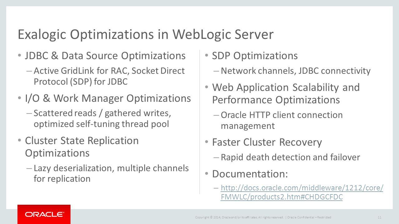 Exalogic Optimizations in WebLogic Server