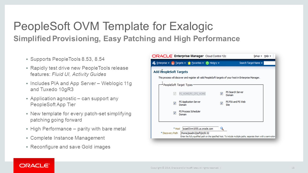 PeopleSoft OVM Template for Exalogic