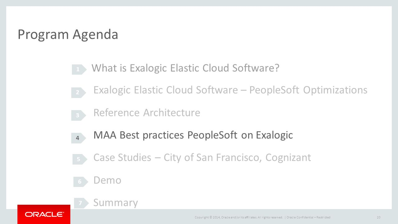 Program Agenda What is Exalogic Elastic Cloud Software