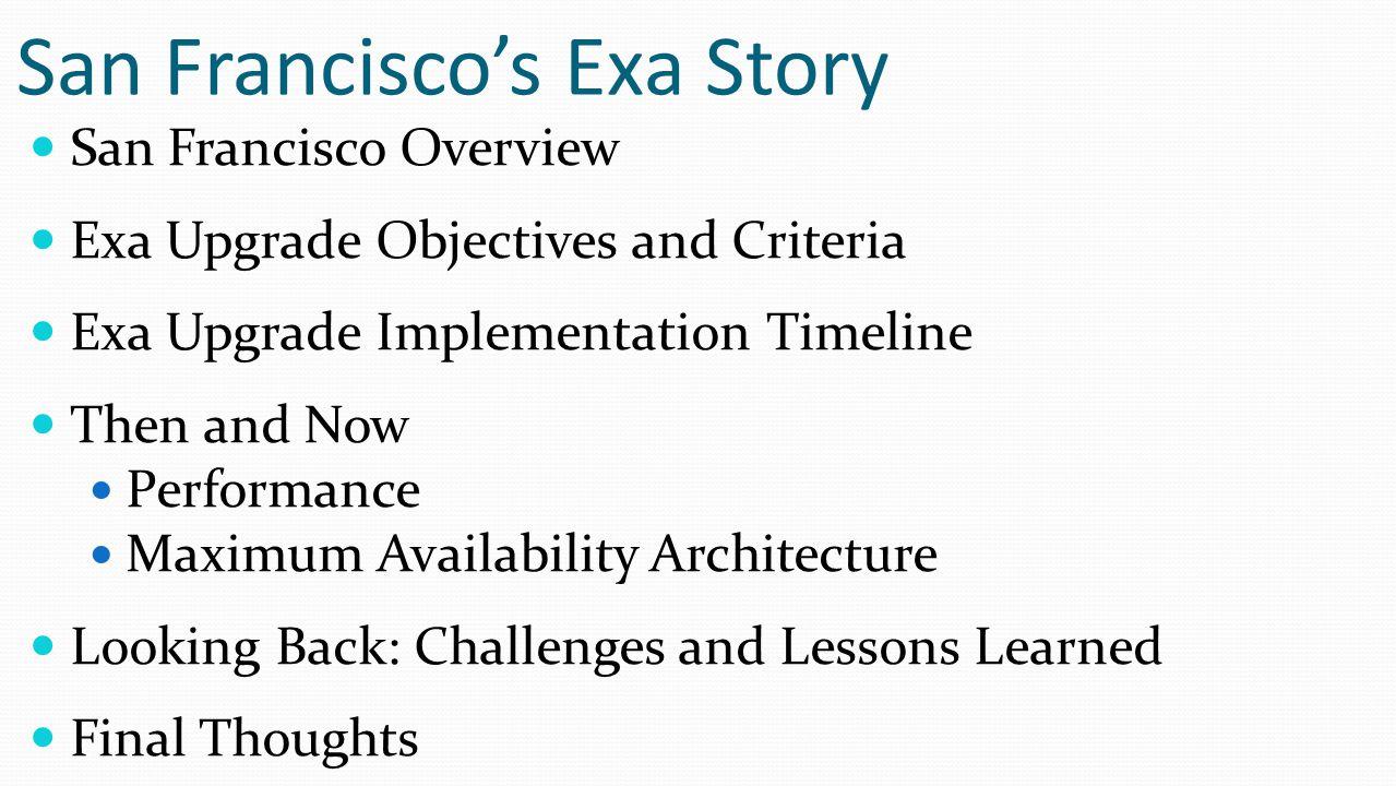 San Francisco's Exa Story