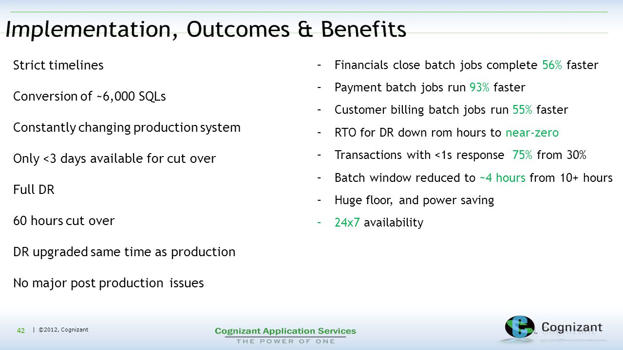 Implementation, Outcomes & Benefits