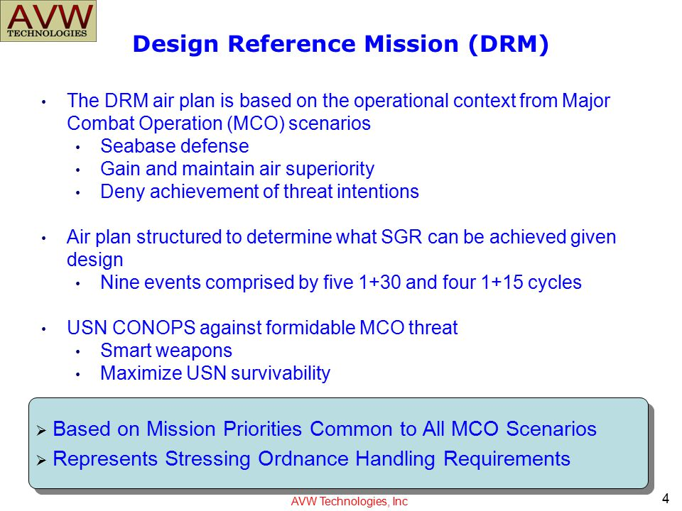 Design Reference Mission (DRM)