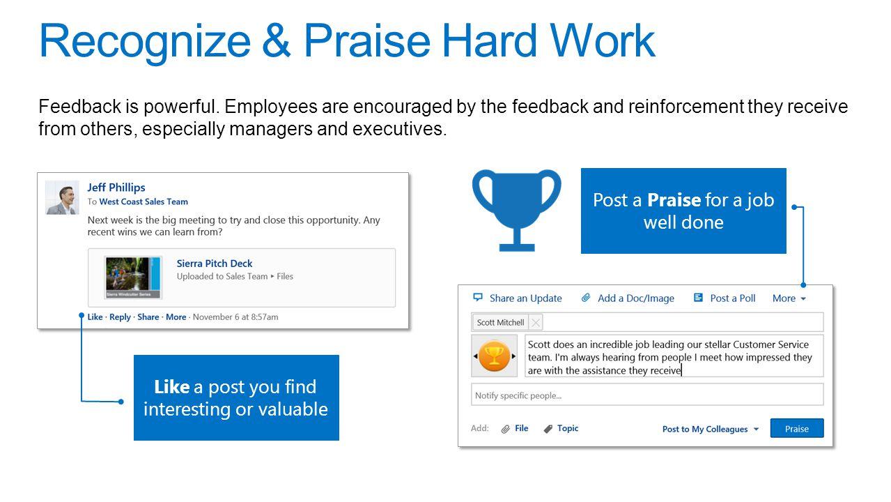 Recognize & Praise Hard Work