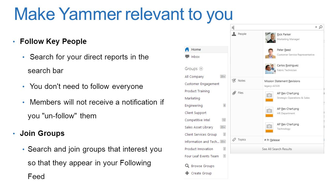 Make Yammer relevant to you