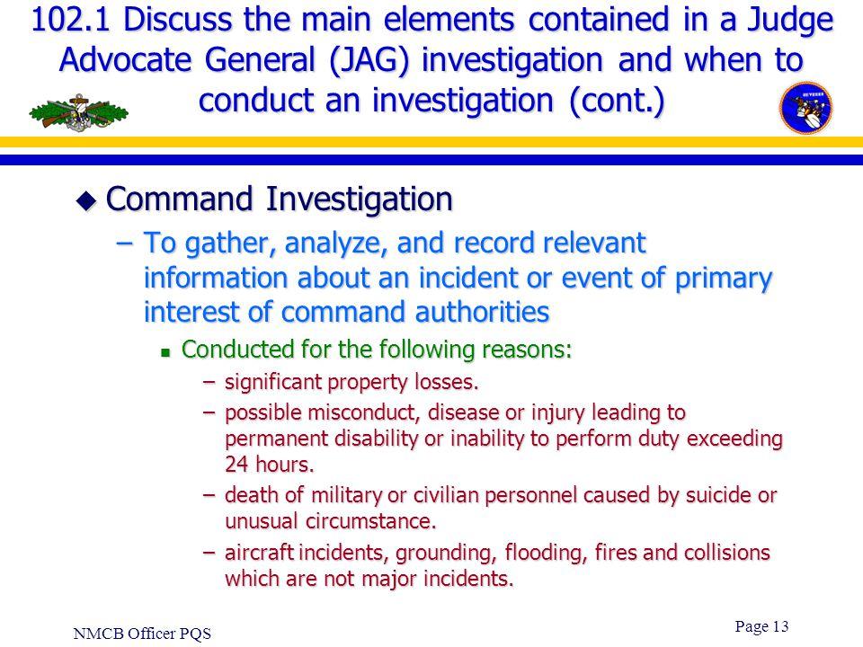 Command Investigation